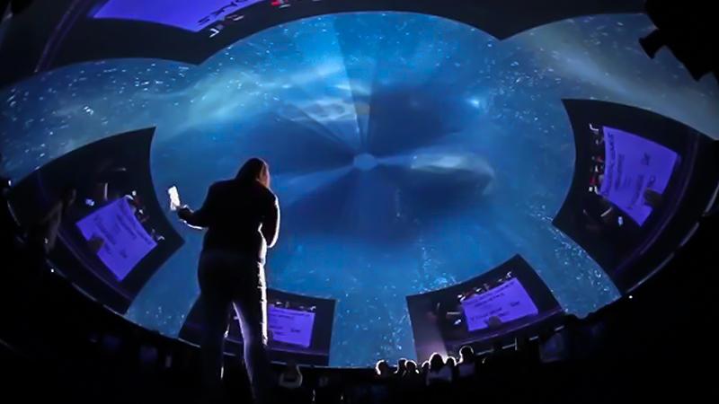 mundo inmersivo,Fulldome,cúpulas inmersivas,tiempo real o pre-renderizados,Proyección Inmersiva